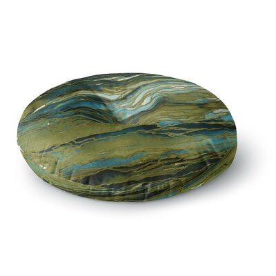 Ebi Emporium Agate Magic Round Floor Pillow Size: 23 x 23, Color: Tan/Gold