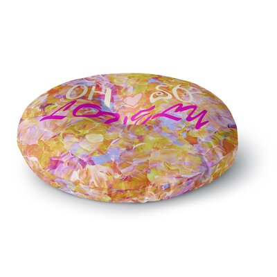 Ebi Emporium Oh So Lovely Round Floor Pillow Size: 26 x 26