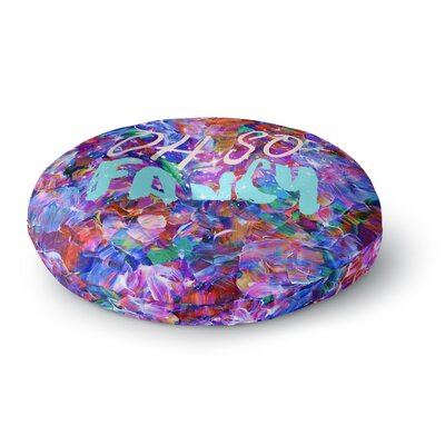 Ebi Emporium Oh So Fancy Round Floor Pillow Size: 23 x 23