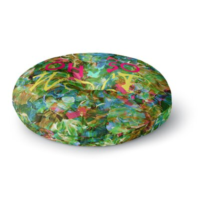 Ebi Emporium Oh So Wild Round Floor Pillow Size: 26 x 26