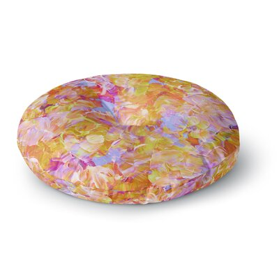Ebi Emporium Bloom On! Tropical Round Floor Pillow Size: 26 x 26, Color: Pink/Orange