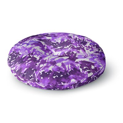 Ebi Emporium In the Meadow 3Round Floor Pillow Size: 26 x 26, Color: Lavender/White