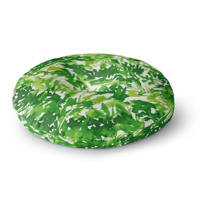 Ebi Emporium In the Meadow 3Round Floor Pillow Size: 26 x 26, Color: Green/White