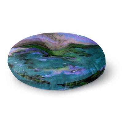 Ebi Emporium Elevated 3 Round Floor Pillow Size: 26 x 26, Color: Purple/Blue