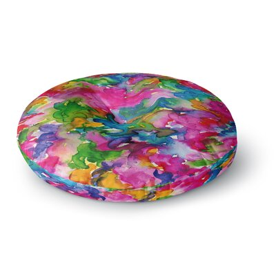 Ebi Emporium Summer Swirls Round Floor Pillow Size: 26 x 26