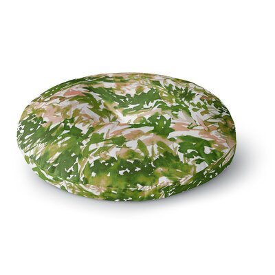 Ebi Emporium In the Meadow 3Round Floor Pillow Size: 26 x 26, Color: Green/Pink