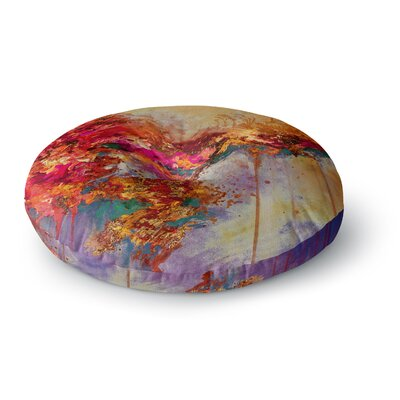 Ebi Emporium When Land Met Sky 4 Round Floor Pillow Size: 26 x 26, Color: Red/Purple