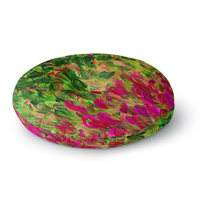 Ebi Emporium Watermelon Splash Fuchsia Round Floor Pillow Size: 26 x 26
