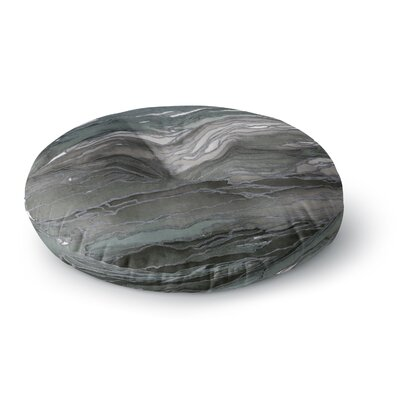 Ebi Emporium Agate Magic Round Floor Pillow Size: 23 x 23, Color: Brown/Blue