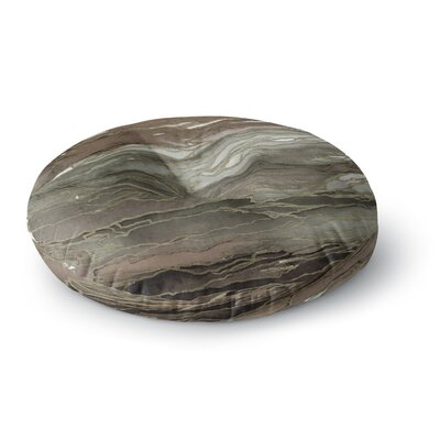 Ebi Emporium Agate Magic Round Floor Pillow Size: 23 x 23, Color: Gray/Tan
