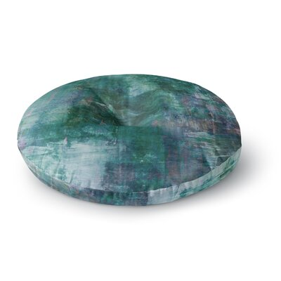 Ebi Emporium into the Tropics Love Round Floor Pillow Size: 26 x 26, Color: Teal/Blue