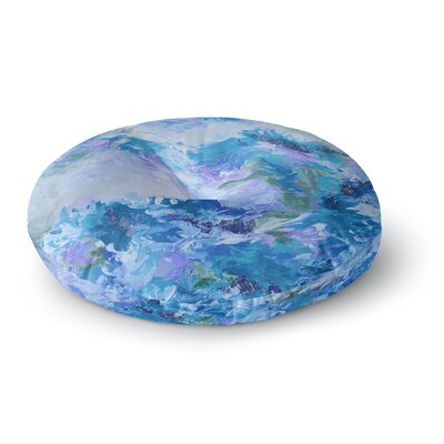 Ebi Emporium When We Were Mermaids 15 Watercolor Round Floor Pillow Size: 23 x 23, Color: Blue/Lavender