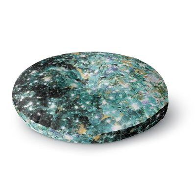 Ebi Emporium Minty Way Painting Round Floor Pillow Size: 26 x 26, Color: Green/Teal