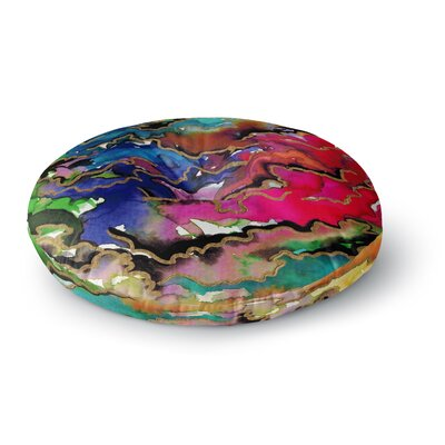 Ebi Emporium Radiant Skies Painting Round Floor Pillow Size: 23 x 23, Color: Magenta