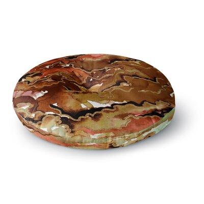 Ebi Emporium Radiant Skies Painting Round Floor Pillow Size: 23 x 23, Color: Tan/Brown