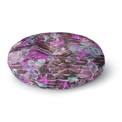 Ebi Emporium Dust Garden Mixed Media Round Floor Pillow Size: 26 x 26, Color: Pink/Lavender
