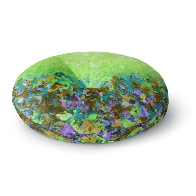 Ebi Emporium Natures Living Room Painting Round Floor Pillow Size: 23 x 23, Color: Green