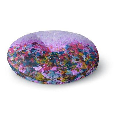 Ebi Emporium Natures Living Room Painting Round Floor Pillow Size: 26 x 26, Color: Purple