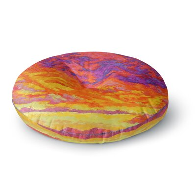 Jeff Ferst View From the Foothills Round Floor Pillow Size: 26 x 26