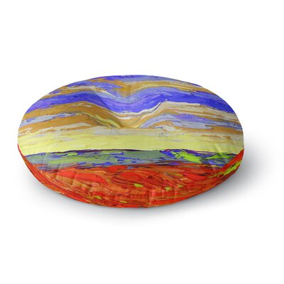 Jeff Ferst After the Storm Round Floor Pillow Size: 23 x 23