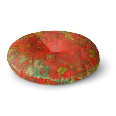 Jeff Ferst Crimson Forest Round Floor Pillow Size: 26 x 26
