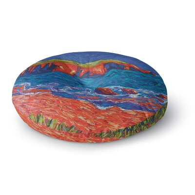 Jeff Ferst Sea Shore Coastal Painting Round Floor Pillow Size: 26 x 26