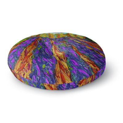 Jeff Ferst Flowers in the Field Round Floor Pillow Size: 26 x 26