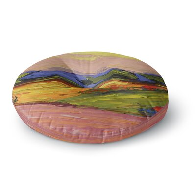 Jeff Ferst Pastoral View Painting Round Floor Pillow Size: 23 x 23