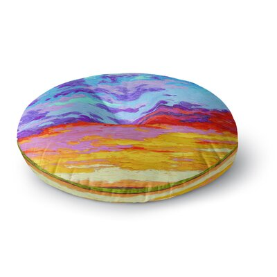 Jeff Ferst Dancing Clouds  Sunset Round Floor Pillow Size: 26 x 26