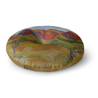 Jeff Ferst Arizona Desert Mountain Round Floor Pillow Size: 26 x 26
