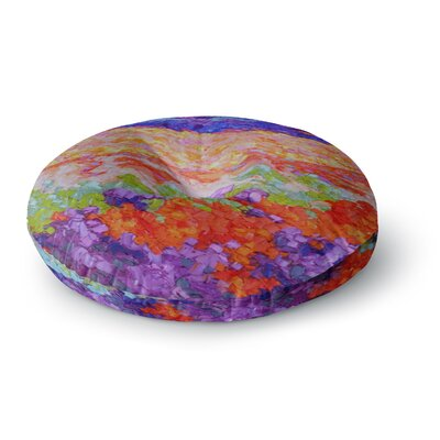 Jeff Ferst Earthly Delights Floral Abstract Round Floor Pillow Size: 26