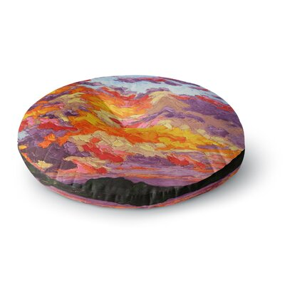 Jeff Ferst Evening Sky Sunset Sky Round Floor Pillow Size: 23