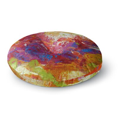Jeff Ferst Sonoran Fantasy Abstract Round Floor Pillow Size: 23