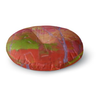 Jeff Ferst Colorful Garden Round Floor Pillow Size: 23 x 23