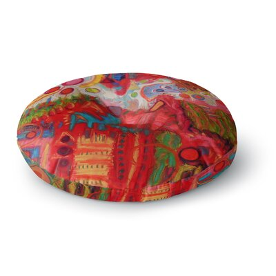 Jeff Ferst Desert Under A Full Moon Round Floor Pillow Size: 26 x 26