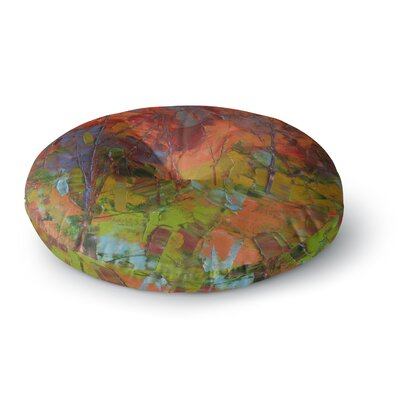 Jeff Ferst Fall Colours  Painting Round Floor Pillow Size: 26 x 26