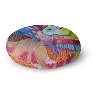 Jeff Ferst Papaya Dream Round Floor Pillow Size: 26 x 26