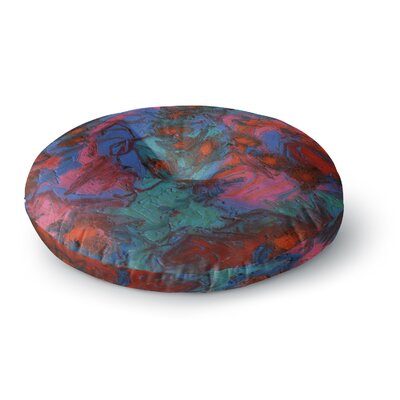 Jeff Ferst Koi Pond Painting Round Floor Pillow Size: 23 x 23