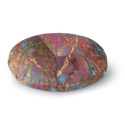 Jeff Ferst By Waters Painting Round Floor Pillow Size: 23 x 23