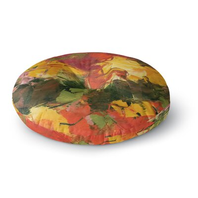 Jeff Ferst Bouganvillea In Bloom  Magenta Painting Round Floor Pillow Size: 23 x 23