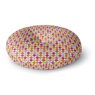 Julia Grifol Happy Circles Round Floor Pillow Size: 23 x 23