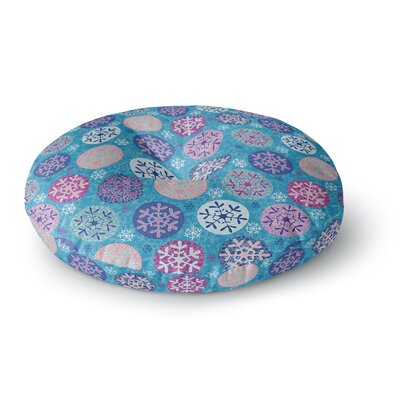 Julia Grifol Floral Winter Round Floor Pillow Size: 26 x 26