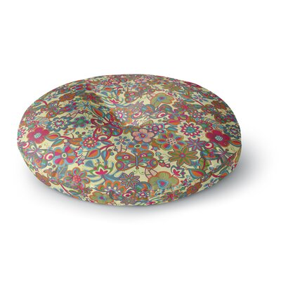Julia Grifol My Butterflies & Flowers Round Floor Pillow Size: 26 x 26