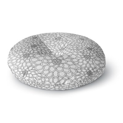 Julia Grifol Flowers Round Floor Pillow Size: 26 x 26