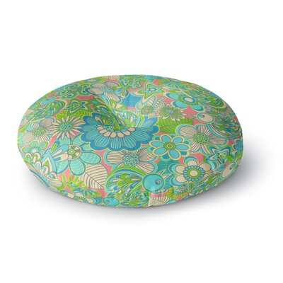 Julia Grifol Welcome Birds to my Garden Round Floor Pillow Size: 23 x 23