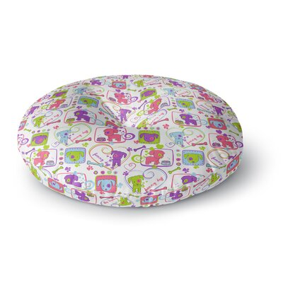 Julia Grifol My Loving Dogs Round Floor Pillow Size: 23 x 23