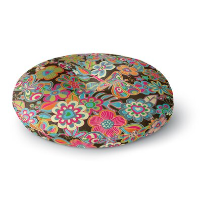 Julia Grifol My Butterflies & Flowers Round Floor Pillow Size: 23 x 23