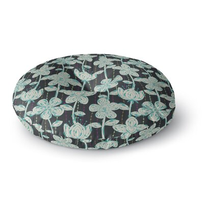 Julia Grifol My Spotted Flowers Round Floor Pillow Size: 26 x 26