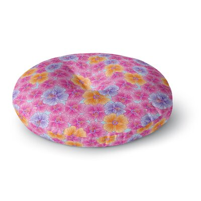 Julia Grifol My Garden Round Floor Pillow Size: 26 x 26