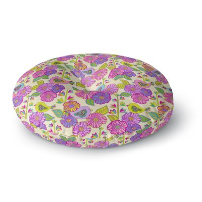 Julia Grifol My Birds and My Flowers Round Floor Pillow Size: 23 x 23